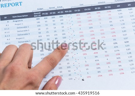 Business charts and graphs close up #435919516