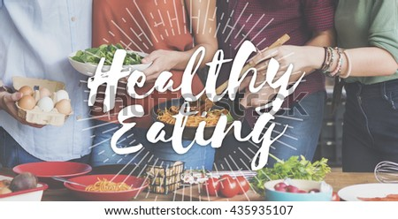 Healthy Eating Healthy Food Nutrition Organic Wellness Concept #435935107