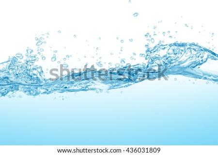 water splash isolated on white background #436031809
