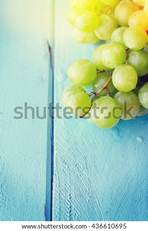 Bunch of green grapes #436610695