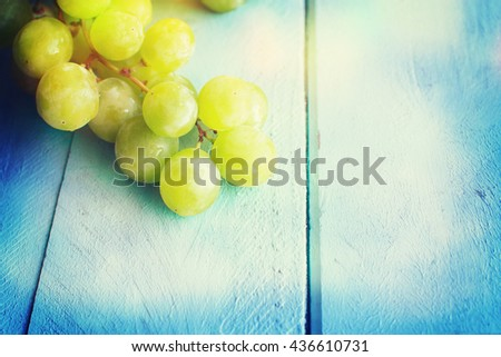 Bunch of green grapes #436610731