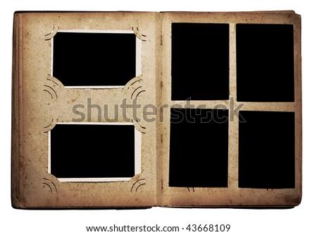 old photo album isolated on white background #43668109