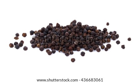 Black pepper on white background #436683061