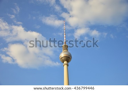 BERLIN,GERMANY - JUNE 2016 - Fernsehturm in Berlin #436799446