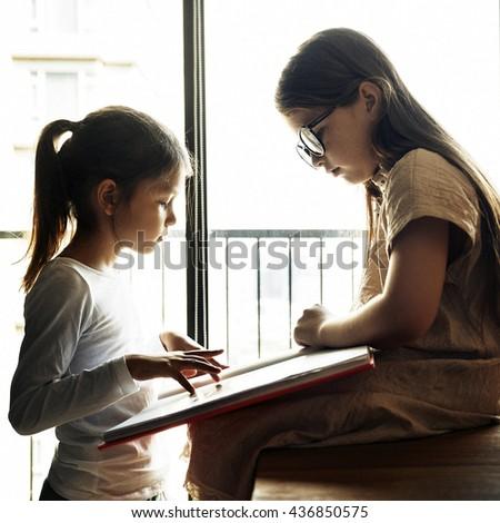 Sisters Friendship Ideas Imagination Creative Concept #436850575