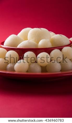 Rassgulla or Rosogolla, famous Bengali sweet #436960783