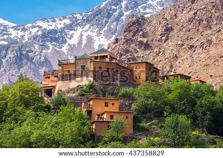 Kasbah du Toubkal, Imlil in the Atlas Mountains (Morocco) Royalty-Free Stock Photo #437358829