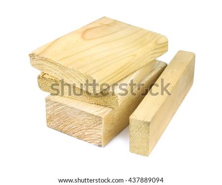 Wooden blocks on white background #437889094