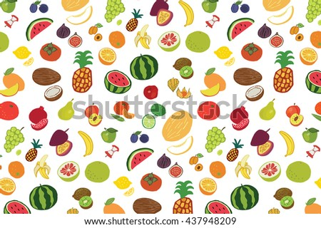 fruits graphic vector color pattern #437948209