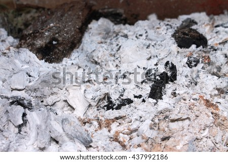 Fire pit ashes #437992186