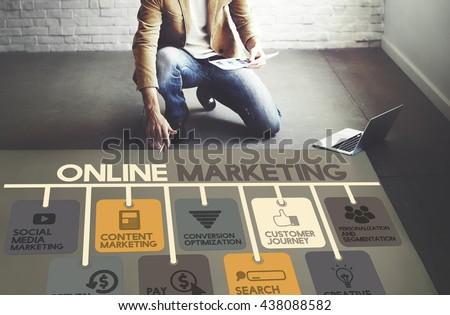Online Marketing Advertisement Social Media Concept