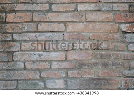 Background of old vintage brick wall #438341998