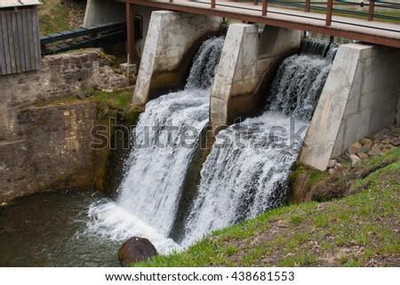 Old bridge in Latvia #438681553