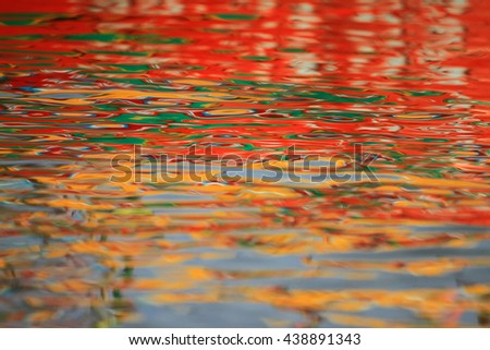 Water texture reflex colored sky in evening background:select focus with shallow depth of field:ideal use for background. #438891343