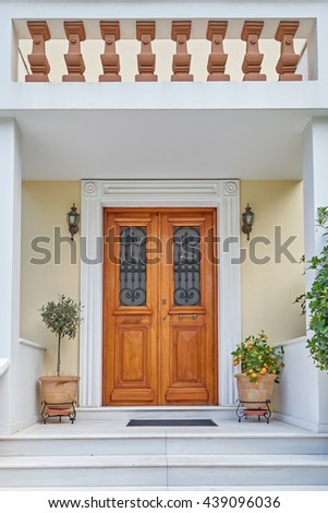 Athens Greece, elegant house entrance #439096036
