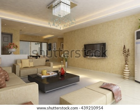 3d rendering of home interior #439210954