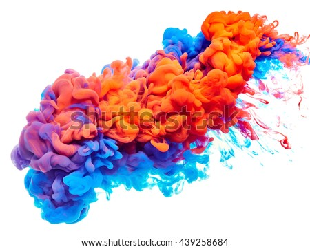 Splash of paint. Abstract background Royalty-Free Stock Photo #439258684