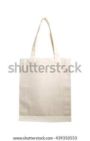 fabric bag isolated on white background with clipping path #439350553