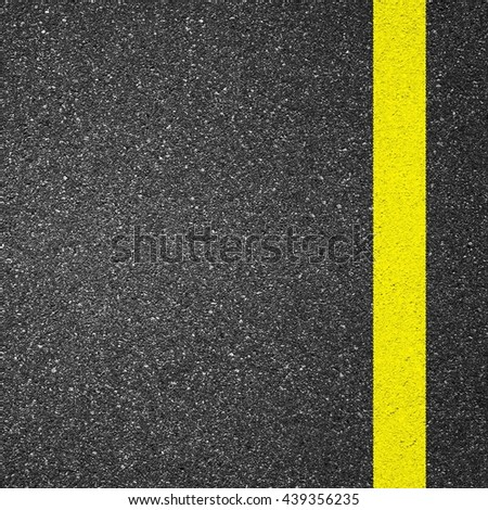 Asphalt texture background with yellow line #439356235