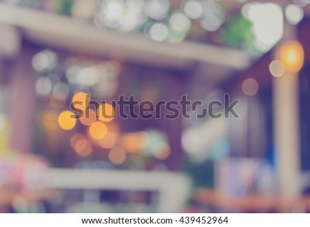 Coffee shop blur background with bokeh image. #439452964
