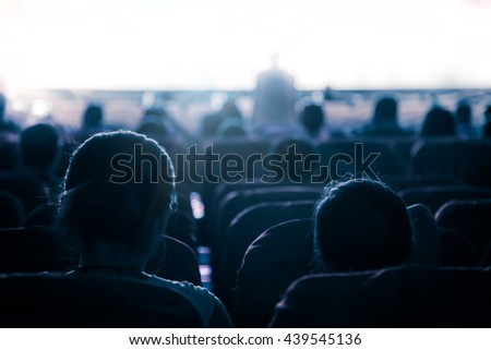 Cinema or theater in the auditorium,business background. #439545136