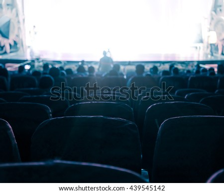 Cinema or theater in the auditorium,business background. #439545142