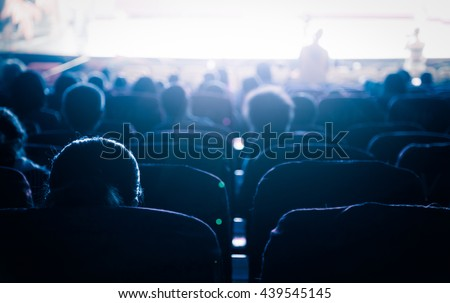 Cinema or theater in the auditorium,business background. #439545145