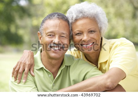 Portrait Of Senior Couple In Park #43969702
