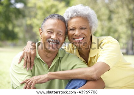 Portrait Of Senior Couple In Park #43969708
