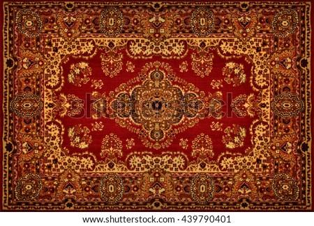 Persian Carpet Texture Royalty-Free Stock Photo #439790401