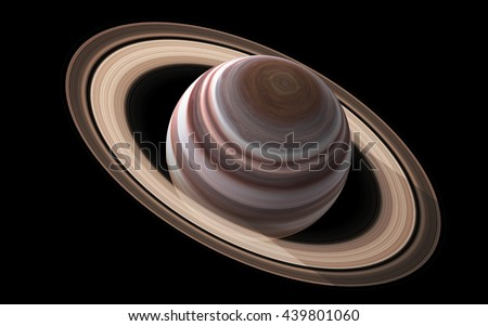 Saturn - High resolution 3D images presents planets of the solar system. This image elements furnished by NASA