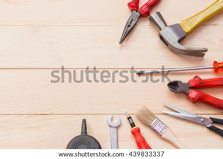 tools on wood, Father's Day background #439833337