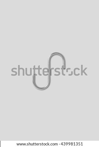 Steel Hook used to hang beefs and kitchen stuff #439981351