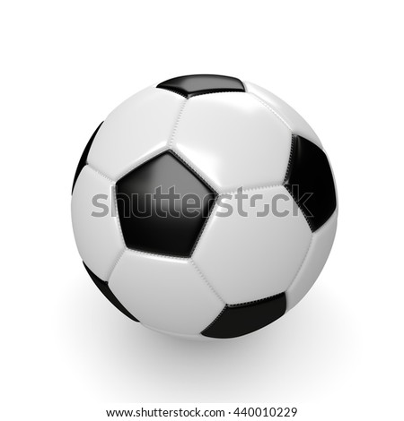 3d rendered soccer ball isolated on white background #440010229