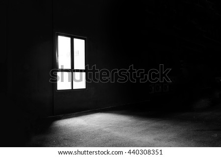 Dark Window in the Mystery Night #440308351