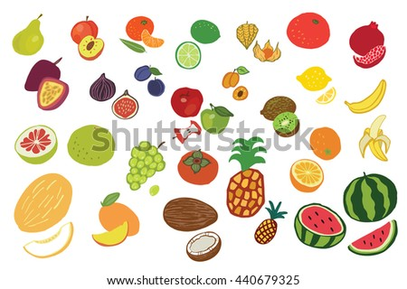 fruits graphic vector color set #440679325