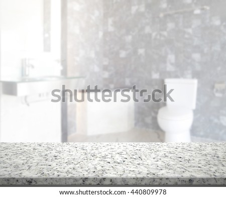 Table Top And Blur Bathroom of the Background #440809978