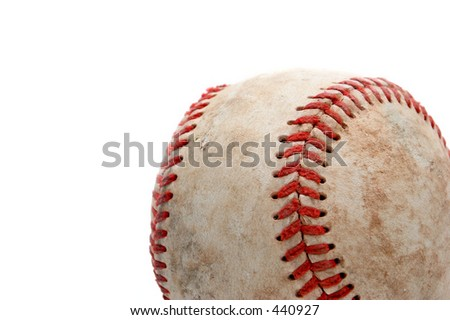 retired baseball, close up and over white #440927