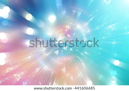 Abstract blue background. Explosion star. #441606685