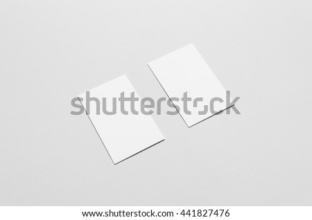Business Card Mock-Up (85x55mm) - Two Cards