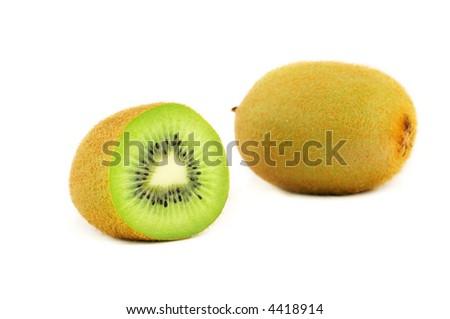 Fresh cut kiwi isolated on white background #4418914