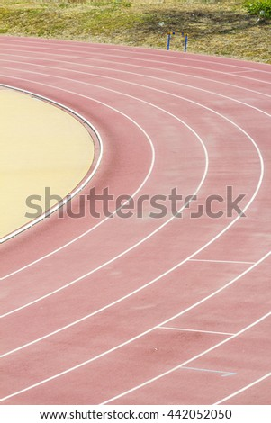 Athletic field for athletics competitions. #442052050