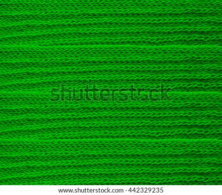 Textured knitted green scarf #442329235