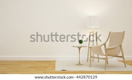 Library or Living room in coffee shop - 3D Rendering #442870129