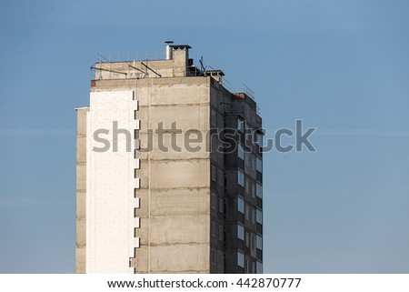 Unfinished high-rise building #442870777