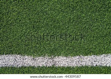Artificial grass soccer field #44309587