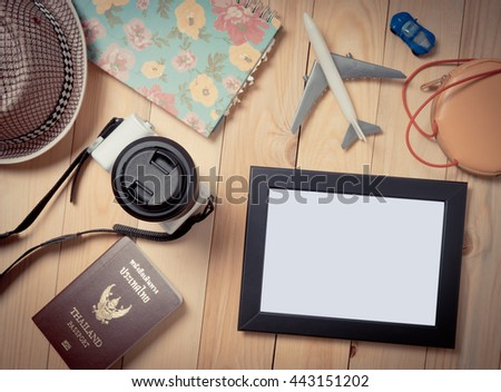Blank photo frame with clipping path for travel blogs.