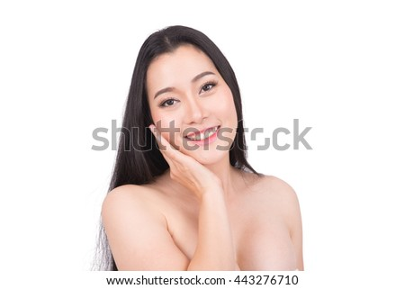 Beauty Portrait model. Beautiful spa asian woman. Beautiful asian woman face and Perfect skin. keep pore details.   #443276710