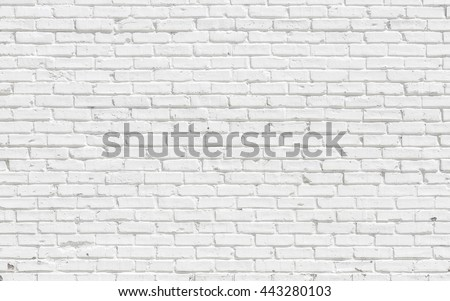 White brick wall for background or texture #443280103