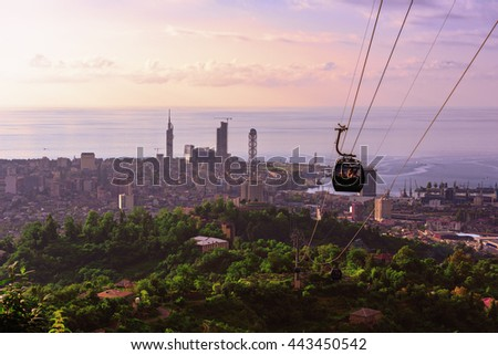 Batumi Georgia, city view at sunset of the observation deck #443450542